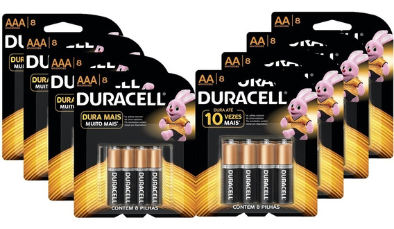 Kit Duracell Aa 32 Uni + Aaa 32 Uni.