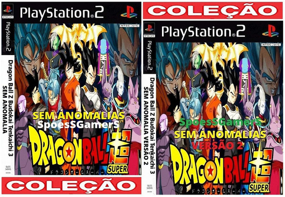 Dragon Ball Z B. Tenk 3 Super V1 E V2 Sem Anomalia Ps2 Patch