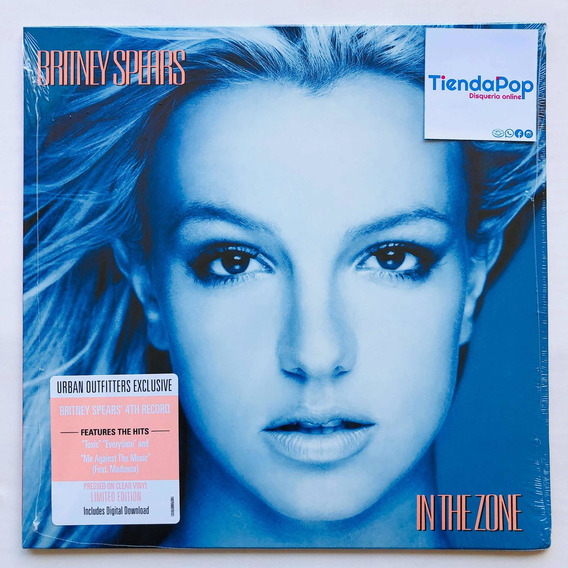 Britney Spears In The Zone Vinilo Clear Urban Outfitters New