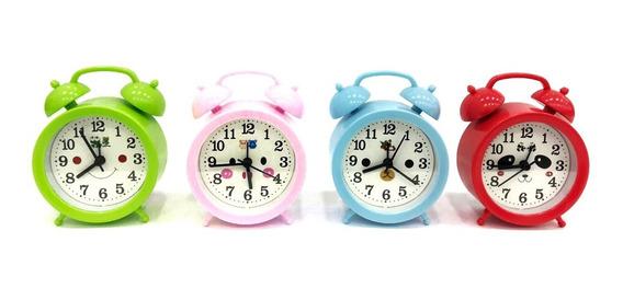 Relógio De Mesa Analógico Retro De Bichos C/ Despertador