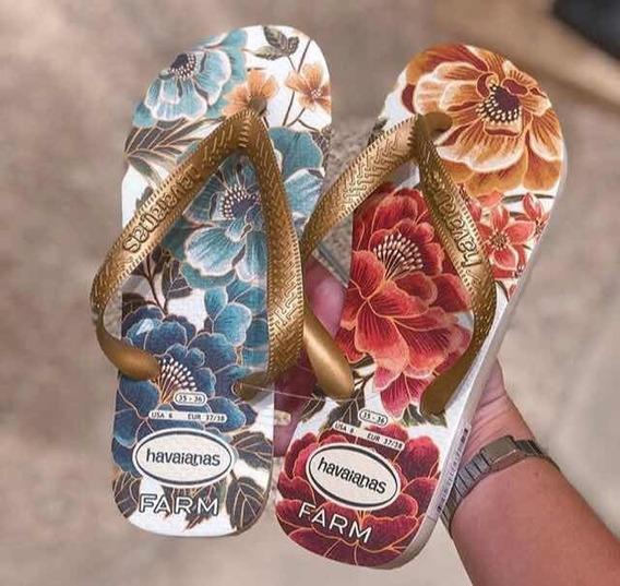 Havaianas Farm Floral É O Bicho Rara