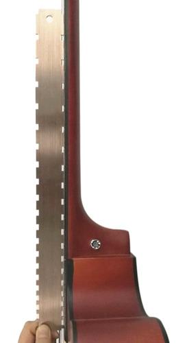 Imagen 1 de 5 de Cuello De Guitarra Regla Con Muesca Acero Inoxidable Cuello