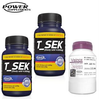 2x Tsek + Veinox - Combo Definição E Ganho De Massa Muscular