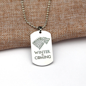 Colar Placa Game Of Thrones Casa Stark