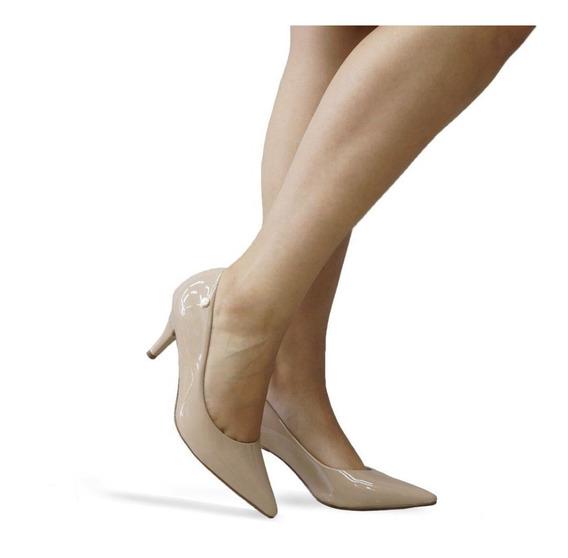 Sapato Feminino Scarpin Vizzano Salto Baixo Bico Fino 1185102