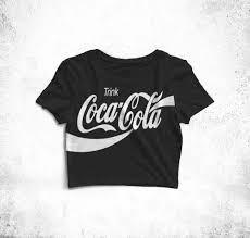 Cropped Coca Cola Preto Feminino