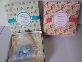 Lembrancinha Casamento 10 Caixas De Sabonete E Toalha