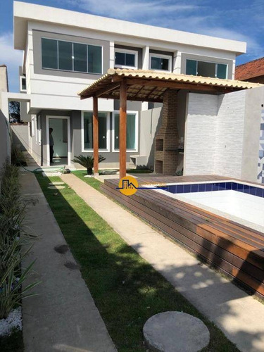 Casa Com 4 Dormitórios À Venda, 160 M² Por R$ 630.000,00 - Recreio - Rio Das Ostras/rj - Ca1815