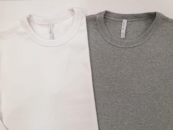Remera/camiseta De Mujer X 4 Unidades 100% Algodón C/redondo