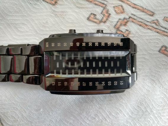 Relógio Binário Semi Novo