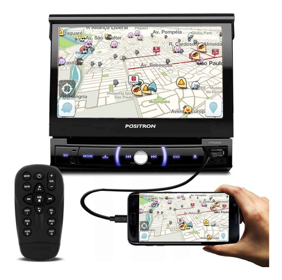 Dvd Player Pósitron Sp6330bt 7p Retratil Espelha Android Usb
