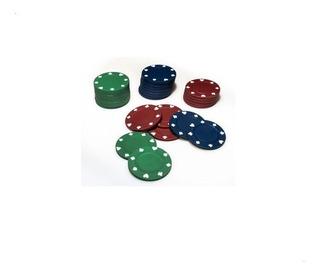 50 Fichas Poker Lisas Plastico 5 Colores Microcentro