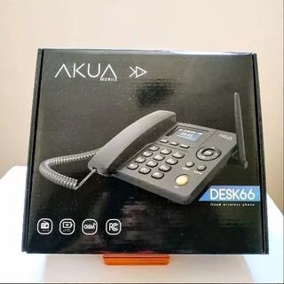 Telefono Fijo Akua Gsm 2g (chip) Movistar Digitel Negro 40$