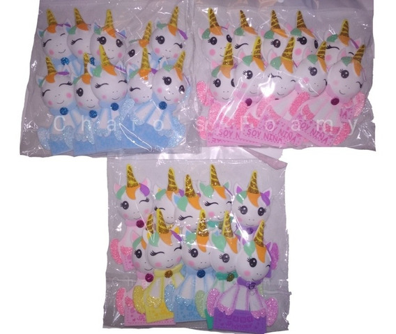 Distintivos De Foamy Baby Shower De Unicornios 160 Pzs Fomi