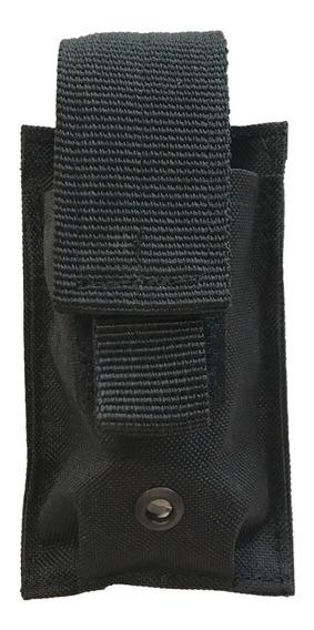 Porta Cargador 9mm Simple Táctico Sistema Molle Negro