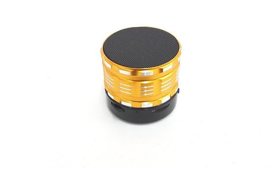 Mini Caixa De Som Portátil Bluetooth S14 Cor Dourado