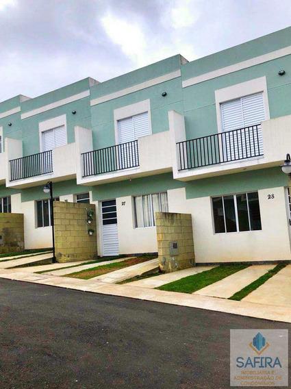 Casa De Condomínio Com 2 Dorms, Água Vermelha, Poá - R$ 228.000,00, 65m² - Codigo: 855 - V855