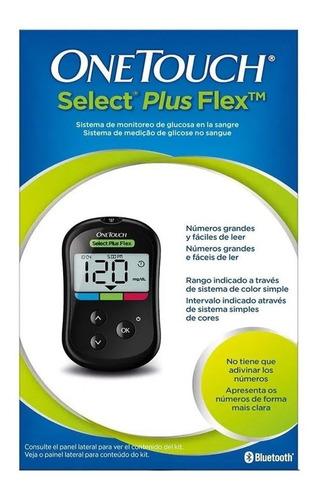 Imagen 1 de 3 de Medidor De Glucosa One Touch Select Plus Flex 60 Dias