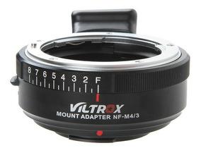 Anel Adaptador De Lente Viltrox Nikon F G Ai Nf-m4/3 Tripé
