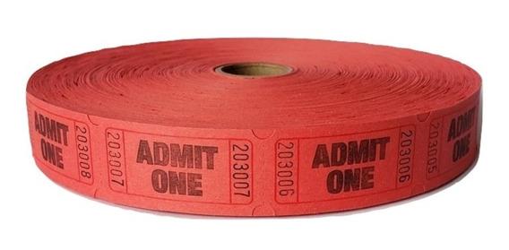 Boletos Sencillos 1 Rollo De 2000 Tickets Feria