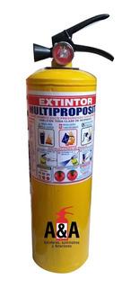 Extintor Multiproposito Abc De 10 Libras + Soporte + Señal