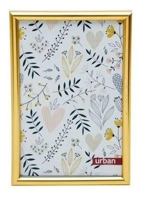 Porta Retrato De Plastico Basic Dourado 10 X 15cm
