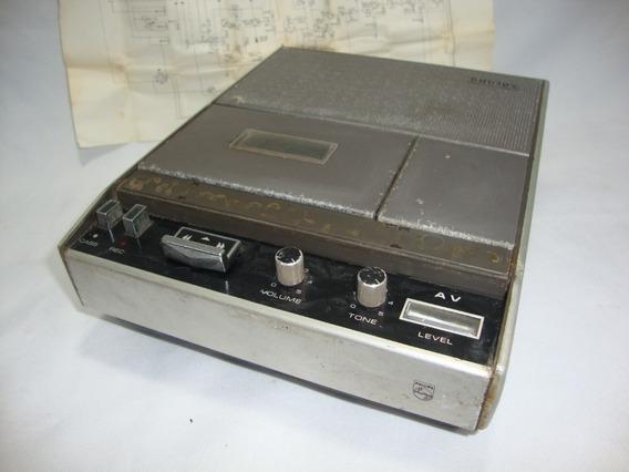 Antigo Gravador Philips Cassete Anos 70 **para Restaurar**