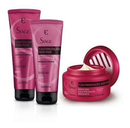 Shampoo + Condicionador + Máscara Cauterização Dos Fios