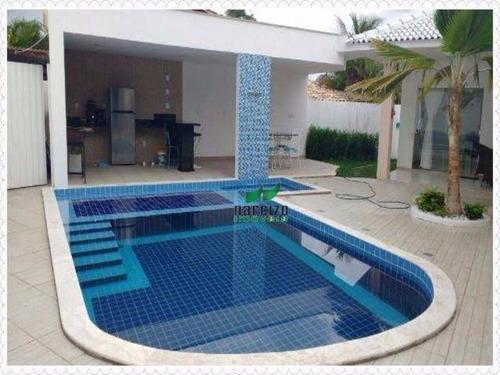 Casa Com 3 Dormitórios À Venda, 400 M² Por R$ 1.050.000,00 - Estrada Do Coco - Camaçari/ba - Ca1117