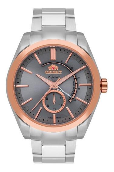 Relógio Masculino Prata Orient Superior Automático Com Data