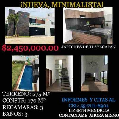 Preciosa Casa Nueva Minimalista, Diseño Innovador.