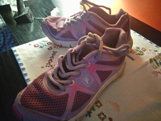 Zapatillas De Nena Fila Violetas