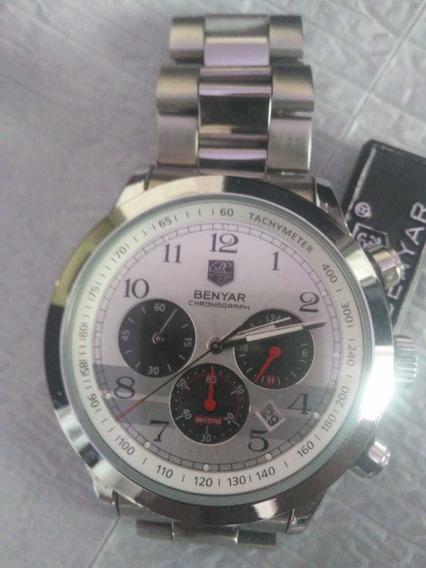 Relógio Original Benyar Cronografo S/novo Lindo Rel
