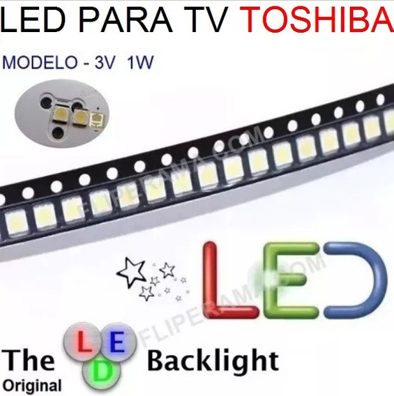 Led 3v Toshiba 32l2300 39l2300 _50 Unidades