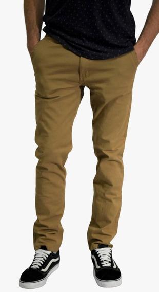 Pantalón Corte Chino Color Tostado - Blackflag