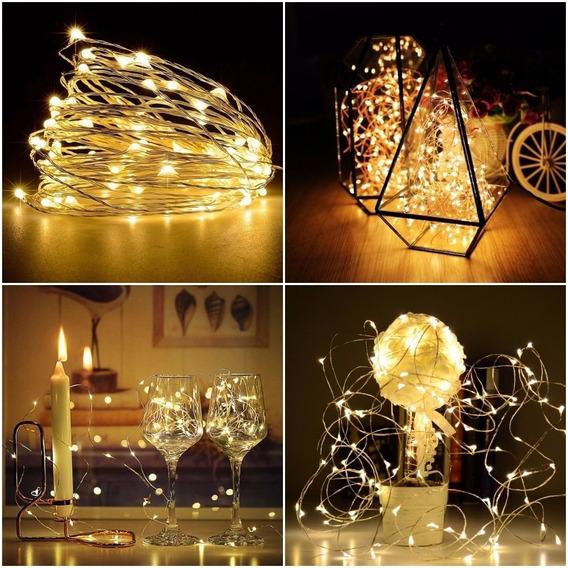 86 Cordão Luz Fio De Fada 3m 30 Led Fairy Light Decor Foto