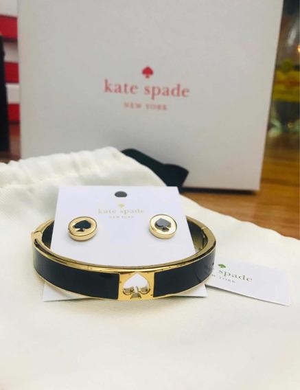 Set De Kate Spade Brazalete-pulsera Y Aretes Trébol Origin