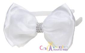 Kit 12 Tiara De Cabelo Infantil Branco Arquinho Kit Atacado