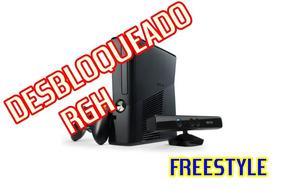 Xbox 360 Desbloqueado+hd500gb+varios Jogos/leia A Descrição!