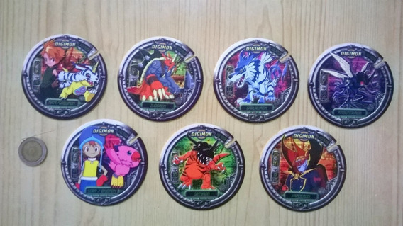 Lote 7 Tazos Pepsico Digimon