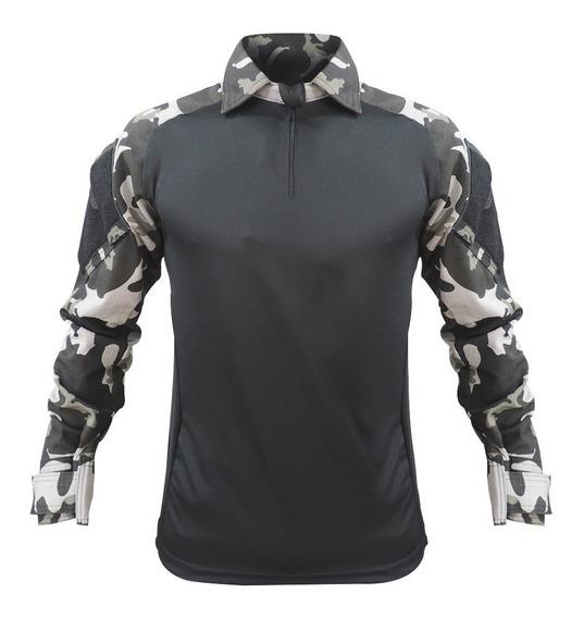 Camisa Combat T- Shirt Masculina Militar Reforçada Rip Stop