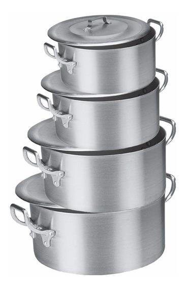 Jogo De Caçarola Alumínio Industrial Restaurante Buffet.