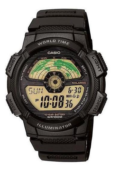 Relógio Casio Standard Masculino World Time Ae-1100w-1bvdf
