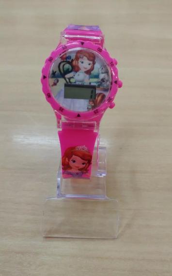 Relógio Infantil Princesinha Sofia Com Música E Led