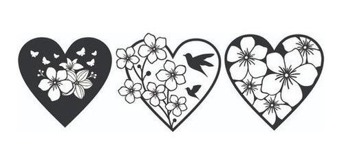 Coração Decorativo Kit 3 Peças Exclusivas - Novidade