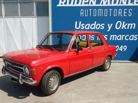 Fiat 128 Modelo 1973 Original, Color Rojo