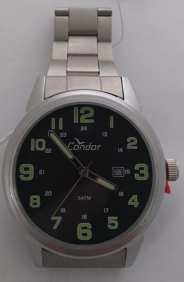Relógio Masculino Prata / Preto Condor Co2115ul Original