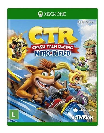 Jogo Crash Team Racing Nitro Fueled - Xbox One - Novo - Dublado - Mídia Física - Lacrado - Original