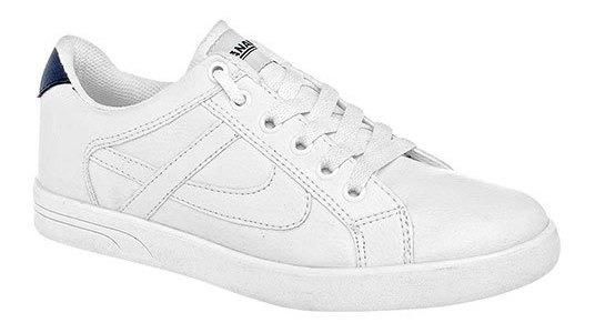 Sneaker Escolar Textil Panam Niño Blanco C36308 Udt