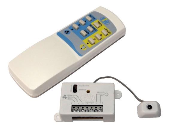 3 Pçs - Controle Remoto Completo + 2 Receptores